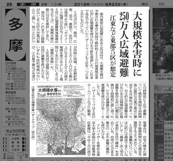 ハザードマップ_新聞記事